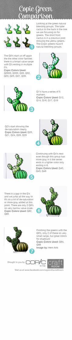 Copic cactus'