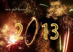 Spetterend 2013 vuurwerk-kaart / flashing fireworks-card. Kaartje2go - Creagaat kerst