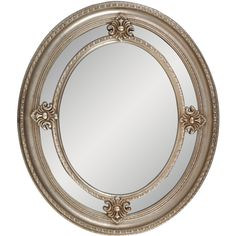 "Framed Oval Wall Mirror 24""x 28"""