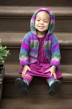 Make this cute Easy Color Hoodie with our Yarn of the Month! Free knit pattern calls for 3 - 6 balls of Lion Brand Unique and size 9 (5.5 mm) knitting needles.