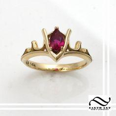 Goron Ruby Engagement Ring