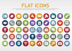Descargar - Iconos planos — Ilustración de Stock #35397109
