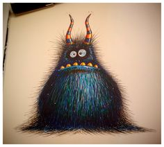 The Shuffler. Disables prey with static electricity. Fact. Pen and watercolour.
