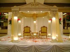 Offering an ample array of Designer Wedding Stage at market leading price in Punjab, India. We are prominent Exporter, Manufacturer and Supplier of Designer Wedding Stage. Wedding Stage Decorations, Wedding Themes, Wedding Designs, Wedding Ideas, Prom Themes, Wedding Centerpieces, Wedding Events, Wedding Stuff, Wedding Inspiration