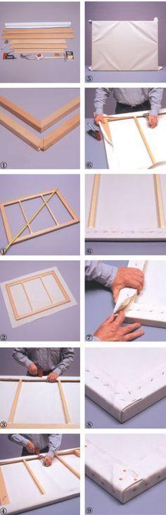 Cheap Joe's Art Stuff Artist Tip 7: How to Mount Artist Canvas Onto a Stretcher Frame From Fredrix #ArtInstruction #ArtLessons #ArtTips