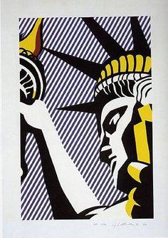 """Roy Lichtenstein, """"I Love Liberty"""". Silk Screen Print"""
