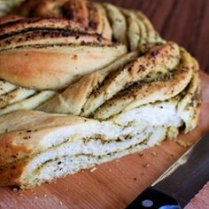 Russian Braided Bread with Pesto Filling