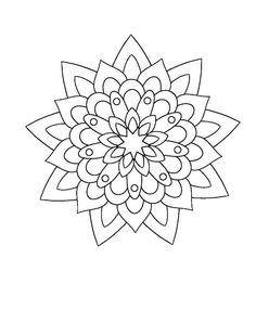 Dibujos Pattern Coloring Pages, Cat Coloring Page, Coloring Book Art, Mandala Coloring Pages, Colouring Pages, Adult Coloring Pages, Mandala Print, Mandala Drawing, Mandala Painting
