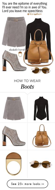 """""""Liz"""" by elizabethhorrell on Polyvore featuring L'Autre Chose, Donna Karan, Milly, Chloé and The Row"""