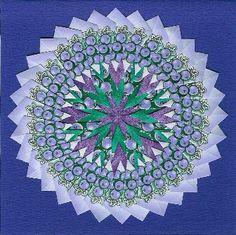 Mandala gemaakt van theezakjes