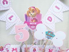 Cumpleaños Skye : la Patrulla Canina versión rosa.