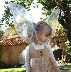 Great tutorial for wings, remember for Halloween if Tinkerbell is the decided costume (likely)