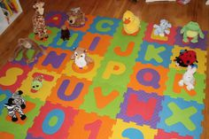 Game-stuffed animal alphabet, have kids match toy with letter, could even set up like a scavenger hunt, or Bible stories, manners, etc.