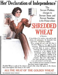 Because good help is hard to find.  Vintage Shredded Wheat Ad - 1909