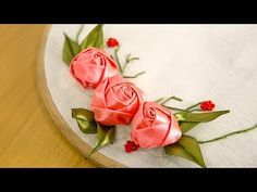 Satin Ribbon Embroidery Roses is three dimensional. The lovely red roses are of course the classics, but we highly recommend mixing it up with a few other colors of your choosing. From whites to blacks to yellows to blues... Enjoy your time working with