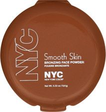 I LOVE THIS BRONZER. Gives you a good matte color: N.Y.C. Smooth Skin Bronzing Face Powder Sunny 720A
