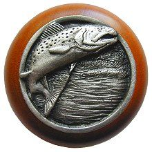 Leaping Trout Cherry Knob $12 http://www.knobs.co/knobs/leaping-trout-cherry-knob-_NOH-NHW-708C.php #knob #trout #fish