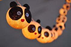 20 Bulbs Cutie Panda Kids Party Cotton ball string lights por ginew, $15.50