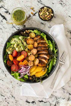Warm Chicken and Roasted Potato Salad - thecafesucrefarine.com