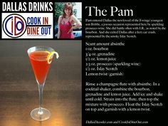 Dallas Drinks: The Pam (bourbon, Islay Scotch, absinthe, grenadine, lemon, prosecco)