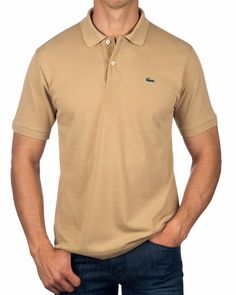 LACOSTE © Polo Shirt Viennois Beige | BEST PRICE Lacoste Polo Shirts, Lacoste Men, Beige Top, Online Shopping Clothes, Mens Tops, Shopping, Clothing
