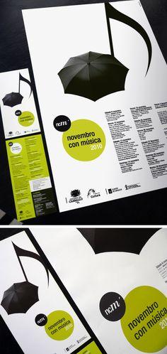 Novembro con música 2010 by Alberto Gende, via Behance