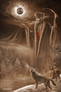 Morana is a Slavic goddess associated with seasonal rites based on the idea of death and rebirth of nature. She is associated with death, winter and nightmares.