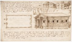 Attributed to a member of the Sangallo family | Recto: Temple Types: in Antis and Prostyle (Vitruvius, Book 3, Chapter 2, nos. 2, 3); Verso: Temple Types: Peripteral (Vitruvius, Book 3, Chapter 2, no. 5). | The Met