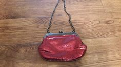 BEAUTIFUL Sparkle Red Formal Clutch with by sistersvintageattic