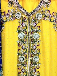 Traditional Indian embroidery Yellow Suit-Dupatta by Dulhan Silk Sarees. Store powered by Shopable Ecommerce Platform. www.shopable.in