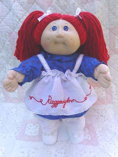 Rerooted hair cabbage patch kids baby doll Raggedy Ann