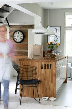 Kitchen island, blog home, kitchen, design chair harry bertoia