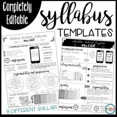 meet the teacher ideas This editable resource includes 8 different syllabus templates to use in your upper elementary, middle school, or high school classroom. Middle School Syllabus, Maths Syllabus, 1st Day Of School, Middle School Science, Syllabus Ideas, Teacher Forms, Teacher Sites, Parent Forms, High School Classroom