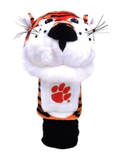 NCAA Clemson University Team Mascot Head Cover by Team Golf. $19.99. Proudly show off your school spirit when you use this officially licensed NCAA® team mascot headcover from Team Golf. The cover features a plush team mascot and fits most oversized drivers.