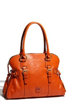 Dooney & Bourke Domed Buckle Satchel in Orange #Nordstrom