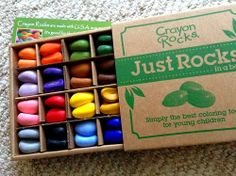 Toys are Tools: Review + Giveaway: Crayon Rocks- Less Has Never Been So Much More
