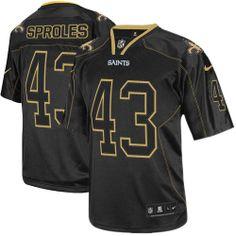 Elite Mens Nike New Orleans Saints #43 Darren Sproles Lights Out Black NFL Jersey$129.99