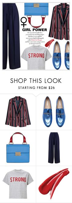 """""""Girl Pride!!!!"""" by alaria ❤ liked on Polyvore featuring Emporio Armani, Miss Selfridge, womensHistoryMonth, pressforprogress and GirlPride"""