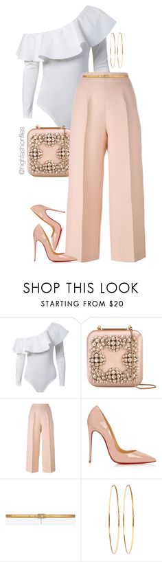 """Untitled #2737"" by highfashionfiles ❤ liked on Polyvore featuring Manolo Blahnik, Fendi, Christian Louboutin, Yves Saint Laurent and Jennifer Meyer Jewelry"