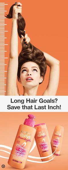 L'Oreal Paris Elvive Dream Lengths Hair Care Collection Hair Dos, My Hair, Beauty Care, Beauty Hacks, Curly Hair Styles, Natural Hair Styles, Split Ends, L'oréal Paris, Diy Skin Care
