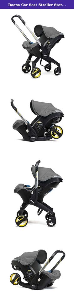 Doona Car Seat Stroller-Storm + Raincover & Snap-on Storage. The Doona is the world's first car seat with integrated wheels meaning that in less than five seconds you can be out of your car with your precious little one and on your way in safety and style. Whether you're nipping into the petrol station, picking up a latte, running into the supermarket, quickly escaping torrential rain in a car park, traveling on public transport or through an airport, the Doona is truly the next…