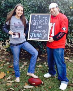 Our Pregnancy reveal! Tweaked an idea I saw on here! Gotta love Pinterest (: