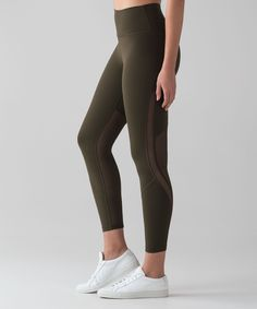 We designed these tights with mesh fabric behind the knee for better air flow and less bunching when you lunge or bend. Lululemon, Pants For Women, Tights, Skinny Jeans, Fitness Apparel, Athletic, My Style, Clothes, Dark