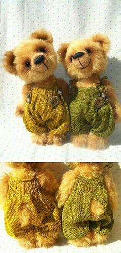 2 golden teddy bear pattern
