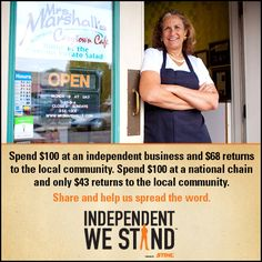 Another reason to support locally owned, independent businesses #ShopLocal #BuyLocal