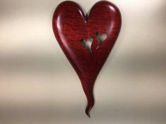 Personalized Red Wood Anniversary Gift by TreeWizWoodCarvings
