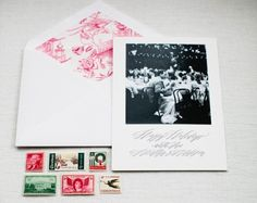Oh So Beautiful Paper: Heather's Creative Calligraphy Wedding Invitations + Holiday Cards