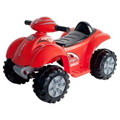 Lil Rider Red Raptor 4 Wheeler ATV Battery Powered Riding Toy - 80-CH910