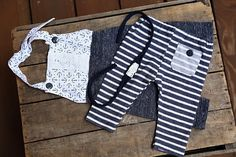 Newborn photo prop,Newborn romper,Infant pants,Baby girl clothes,Navy tieback,Going home outfit,Twins photo prop,Baby boy pants,Anchor prop - pinned by pin4etsy.com