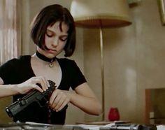 actress, film, girl, gun, leon, mathilda, movie, natalie portman, the professional
